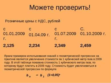 Можете проверить! Розничные цены с НДС, рублей Ярким примером использования з...