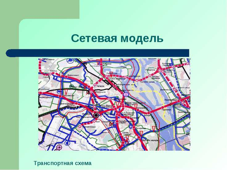 Сетевая модель Транспортная схема