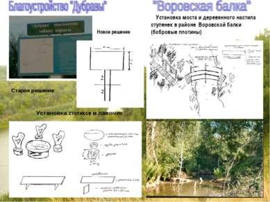 Установка моста и деревянного настила ступенек в районе Воровской балки (бобр...