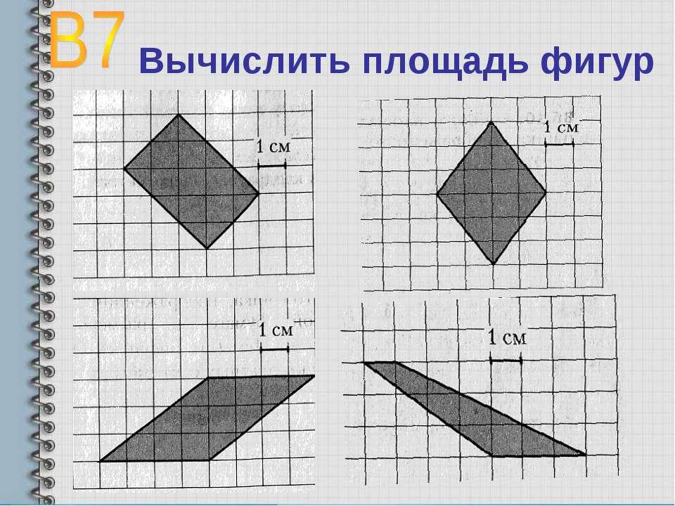 Вычислить площадь фигур