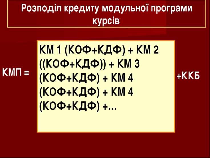 КМ1 (КОФ+КДФ) + КМ2 ((КОФ+КДФ)) + КМ3 (КОФ+КДФ) + КМ4 (КОФ+КДФ) + КМ4 (К...