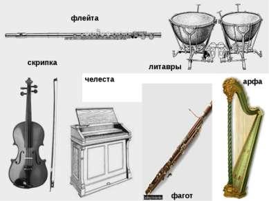 флейта скрипка челеста фагот литавры арфа