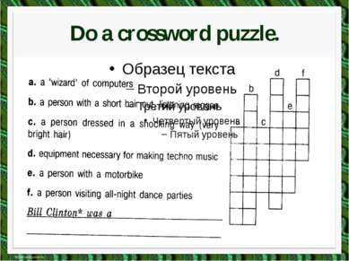 Do a crossword puzzle.