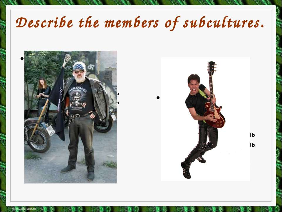 Describe the members of subcultures.