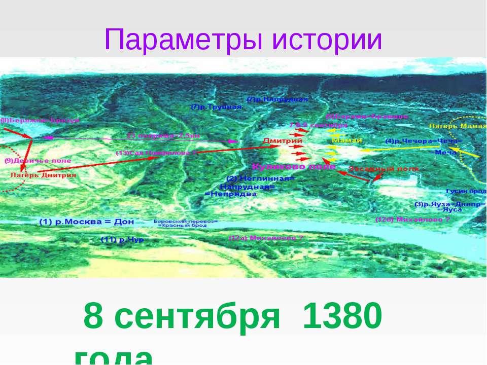 Параметры истории 8 сентября 1380 года