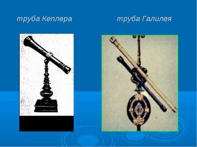 труба Кеплера труба Галилея