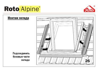 Подсоединить боковые части оклада Монтаж оклада