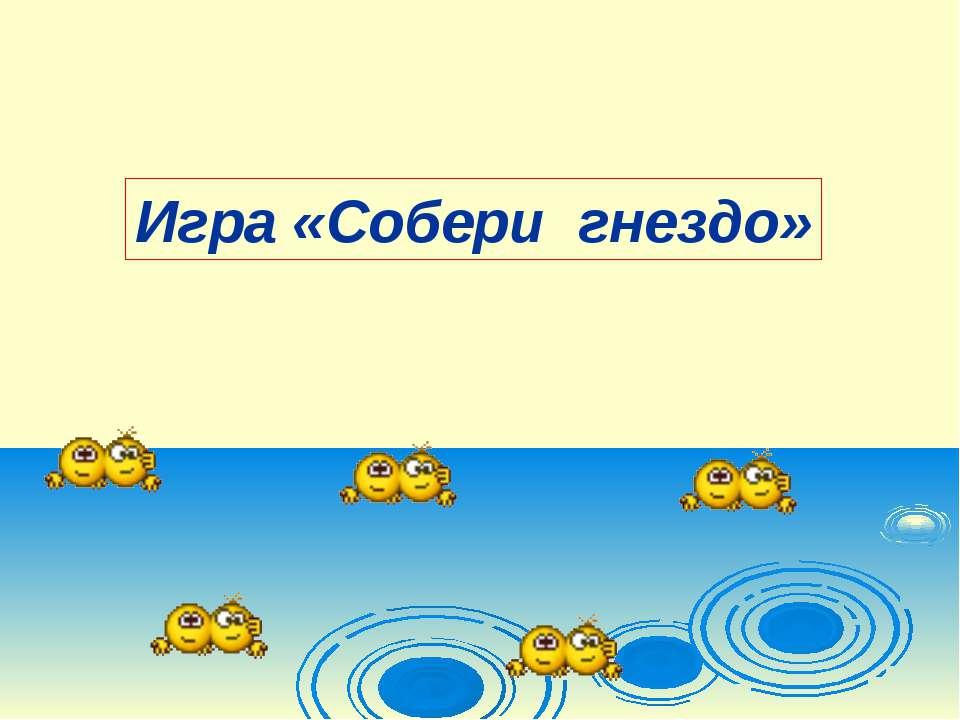 Игра «Собери гнездо»
