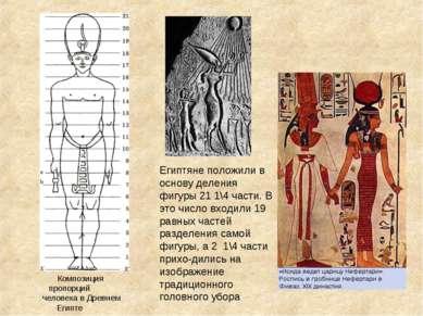Композиция пропорций человека в Древнем Египте Египтяне положили в основу дел...