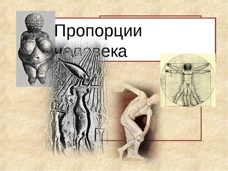 Пропорции человека