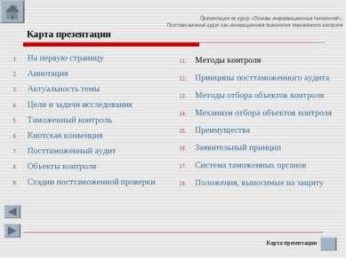Презентация по курсу «Основы информационных технологий»: Посттаможенный аудит...