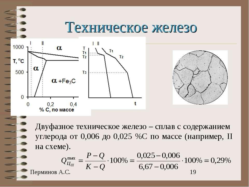 Техническое железо Двуфазное техническое железо – сплав с содержанием углерод...