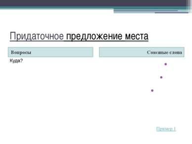 Придаточное предложение условия Вопрос Союзы Если Если бы Если…то Раз Когда (...