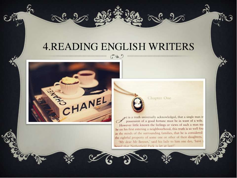 4.READING ENGLISH WRITERS