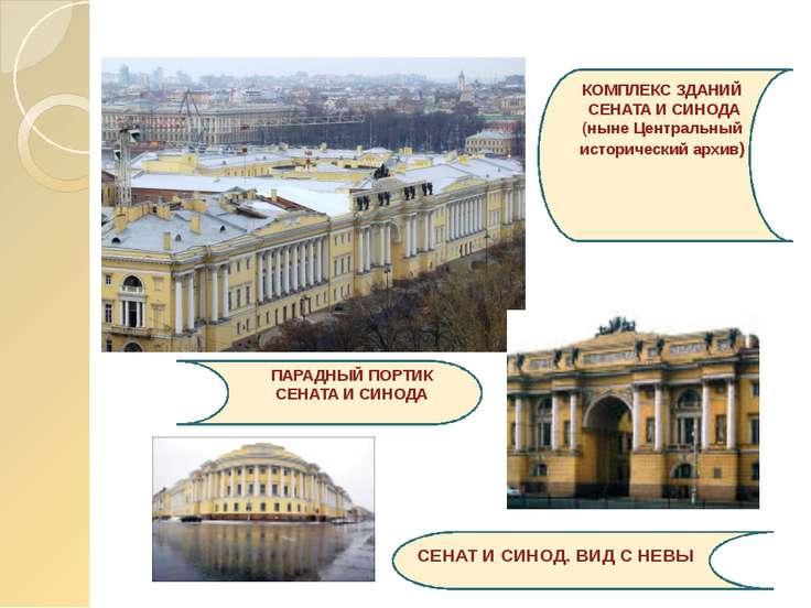 КОМПЛЕКС ЗДАНИЙ СЕНАТА И СИНОДА (ныне Центральный исторический архив) СЕНАТ И...
