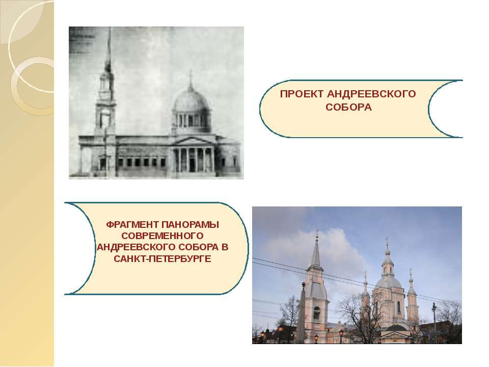 ПРОЕКТ АНДРЕЕВСКОГО СОБОРА ФРАГМЕНТ ПАНОРАМЫ СОВРЕМЕННОГО АНДРЕЕВСКОГО СОБОРА...