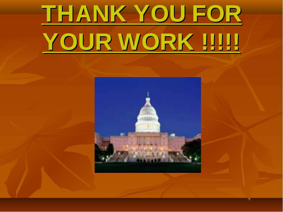 THANK YOU FOR YOUR WORK !!!!!