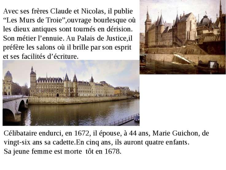"""Avec ses frères Claude et Nicolas, il publie """"Les Murs de Troie"""",ouvrage bour..."""