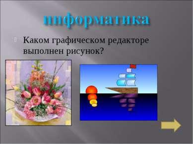 Каком графическом редакторе выполнен рисунок?