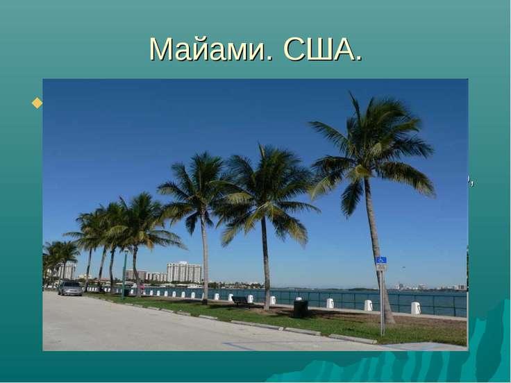 Майами. США. США. Это пожалуй Майами, где чистый, золотистый песок на берегу ...