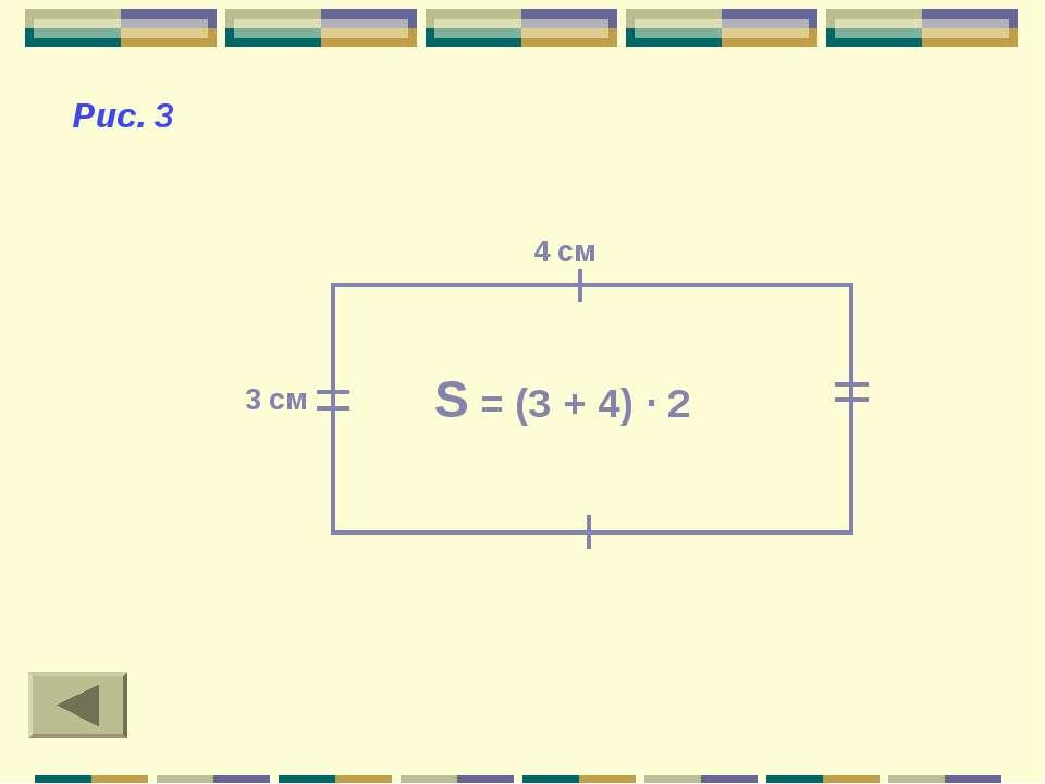 S = (3 + 4) · 2 4 см 3 см Рис. 3