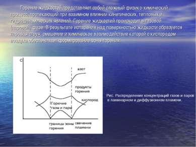 Горение жидкостей представляет собой сложный физико-химический процесс, проте...