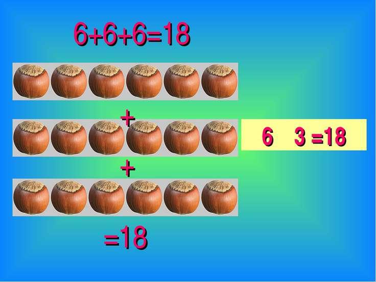 + + 6+6+6=18 =18 6 · 3 =18
