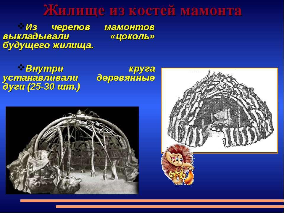 Жилище из костей мамонта Из черепов мамонтов выкладывали «цоколь» будущего жи...