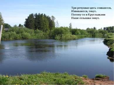Три речушки здесь сливаются, Извиваются, текут. Потому-то и Круглыжами Наше с...