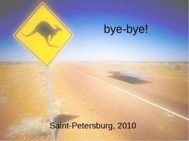bye-bye! Saint-Petersburg, 2010