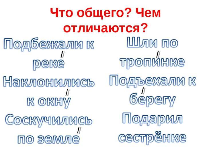 Что общего? Чем отличаются?