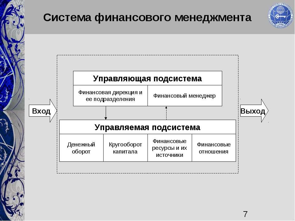 Система финансового менеджмента Денежный оборот Кругооборот капитала Финансов...