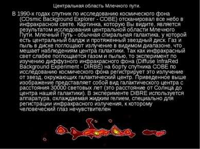 Центральная область Млечного пути. В 1990-х годах спутник по исследованию кос...