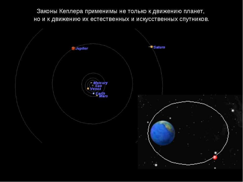 Законы Кеплера применимы не только к движению планет, но и к движению их есте...