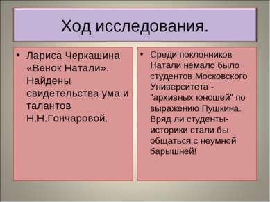 Лариса Черкашина «Венок Натали». Найдены свидетельства ума и талантов Н.Н.Гон...