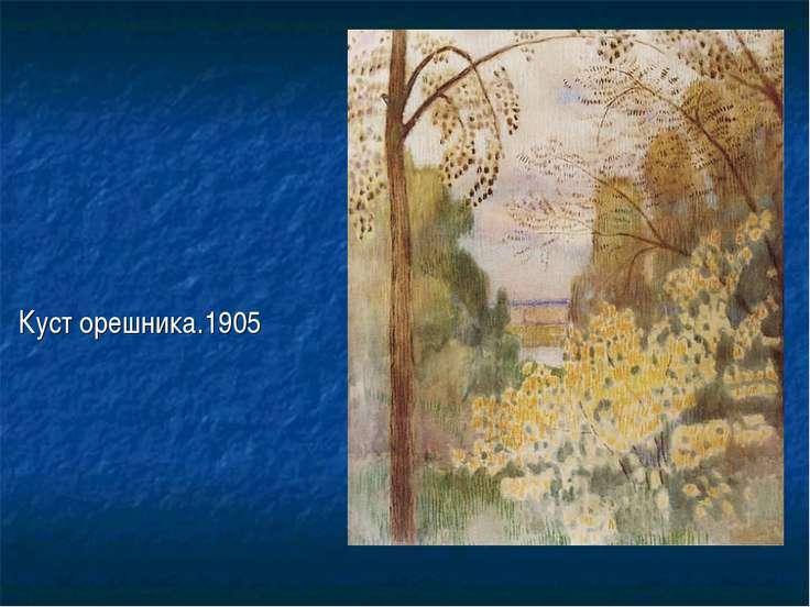 Куст орешника.1905