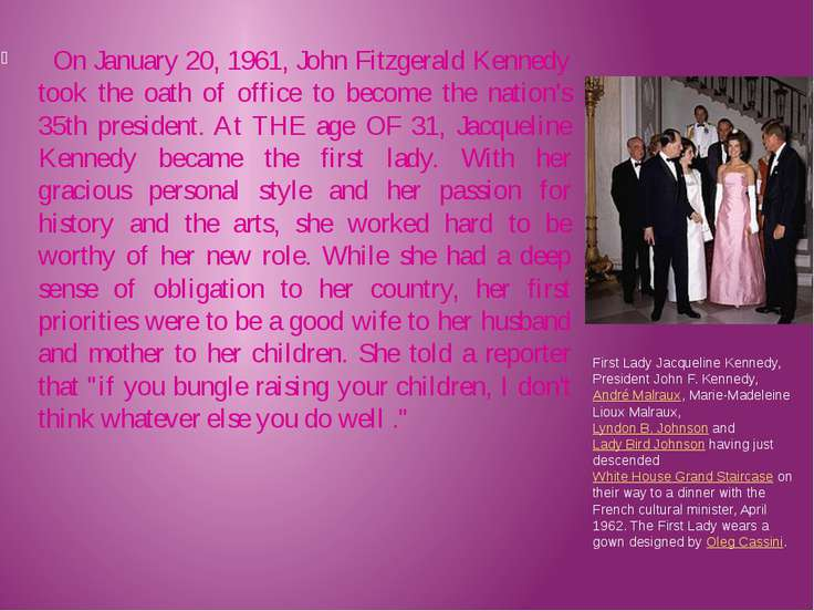 On January 20, 1961, John Fitzgerald Kennedy took the oath of office to becom...
