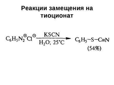 Реакции замещения на тиоционат