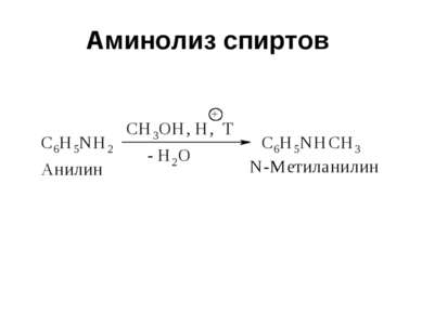 Аминолиз спиртов