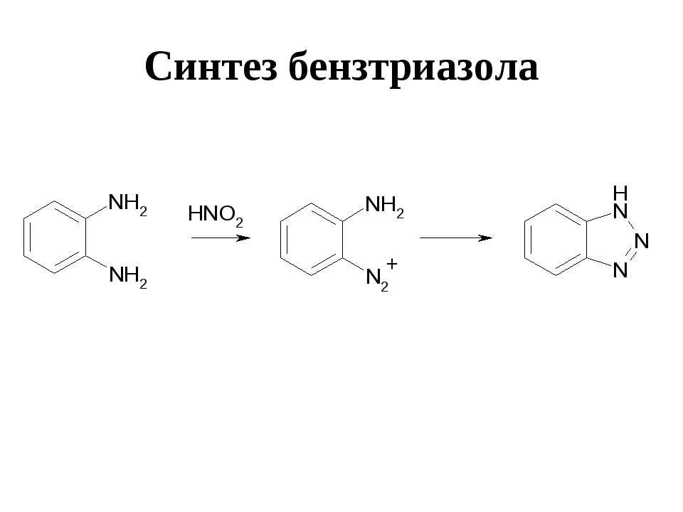 Синтез бензтриазола