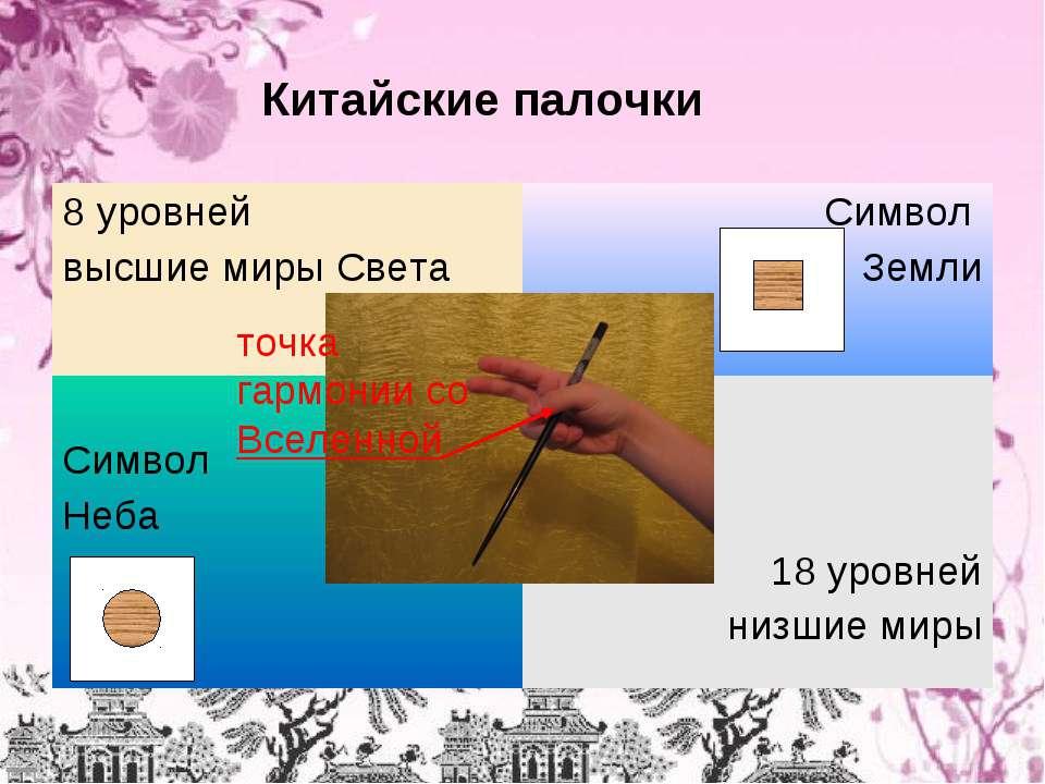 Китайские палочки точка гармонии со Вселенной 8 уровней высшие миры Света Сим...