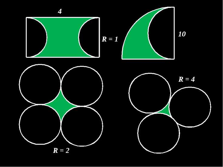 4 R = 1 10 R = 2 R = 4