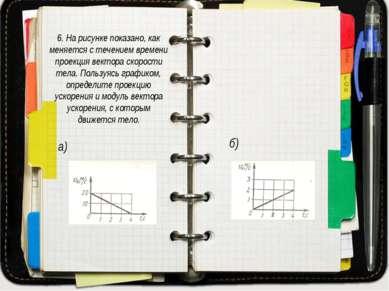 6. На рисунке показано, как меняется с течением времени проекция вектора скор...