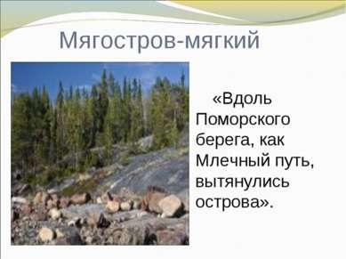 Мягостров-мягкий «Вдоль Поморского берега, как Млечный путь, вытянулись остро...