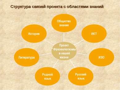 Структура связей проекта с областями знаний