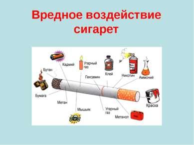 Вредное воздействие сигарет