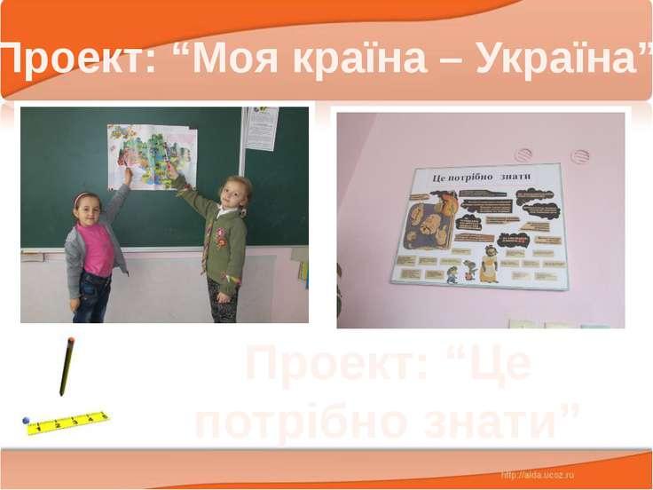 """Проект: """"Моя країна – Україна"""" Проект: """"Це потрібно знати"""""""