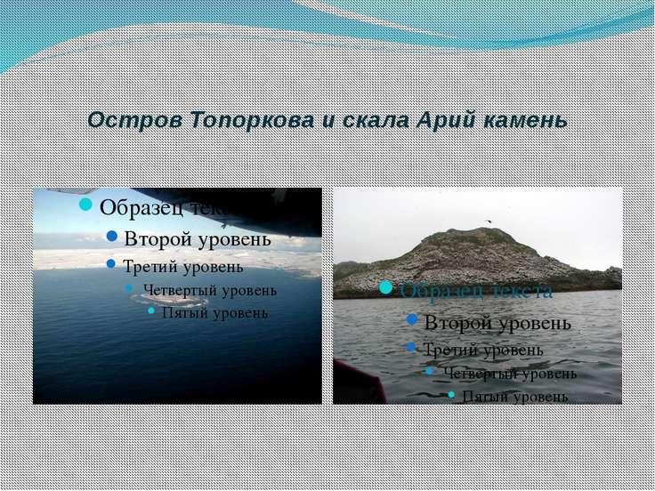 Остров Топоркова и скала Арий камень