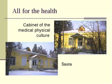 All for the health Sauna Cabinet of the medical physical culture