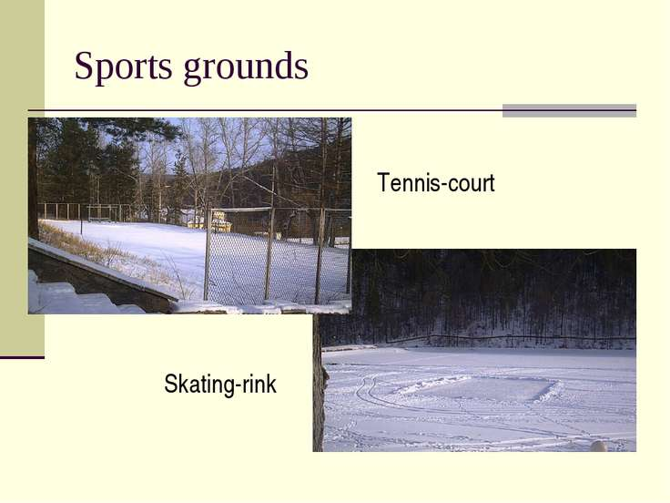 Sports grounds Tennis-court Skating-rink